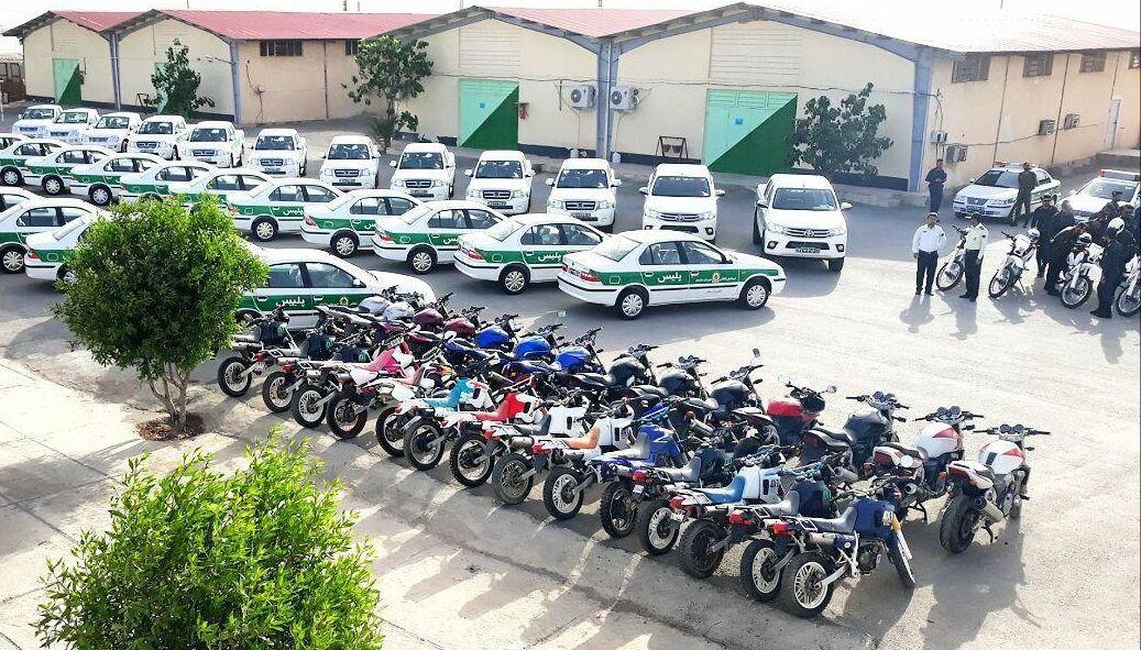 موتورسیکلت هاى جدید به یگان های انتظامی استان بوشهر افزوده شد