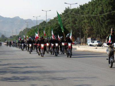 رژه اقتدار موتورسواران نیروهای مسلح به مناسبت هفته دفاع مقدس