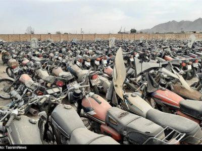 ترخیص موتورسیکلت های رسوبی از پارکینگ ها در تعطیلات کرونایی ادامه دارد