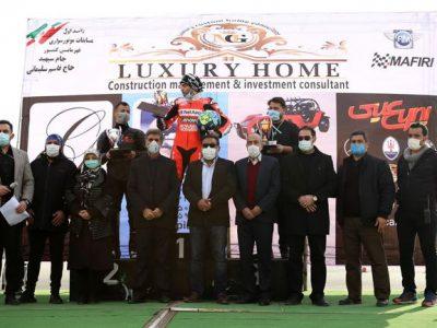 اعلام نفرات برتر در مسابقه موتورسواری