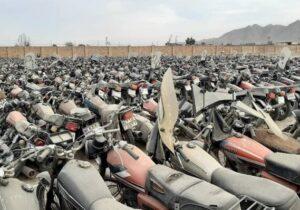تعداد موتورسیکلتهای رسوبی در پارکینگهای نیروی انتظامی اصفهان اعلام شد