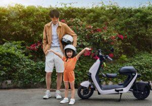 موتورسیکلت برقی جدید چینی با فناوریهای پیشرفته و صندلی مخصوص کودک